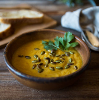 Curried Butternut Squash Soup with Coconut Milk