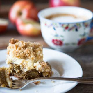Cream Cheese Apple Coffee Cake by Yammie's Noshery