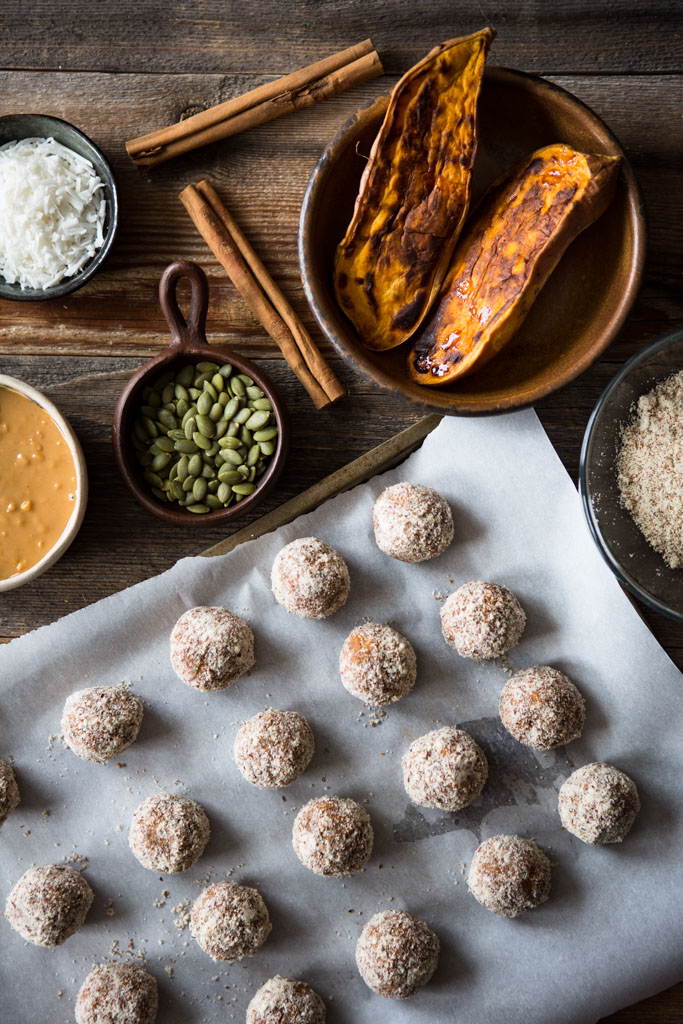 Nourishing Sweet Potato Protein Bites – a bit of goodness and nutrition in every delicious bite.