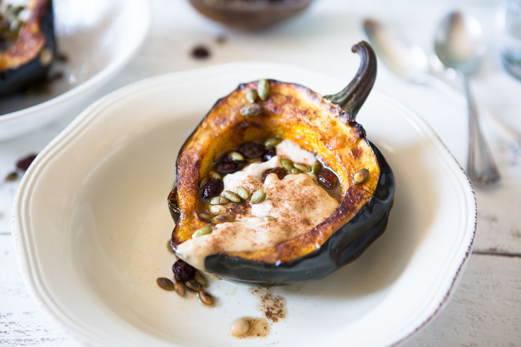 Protein-Packed Acorn Squash Boats - a perfectly beautiful holiday side dish
