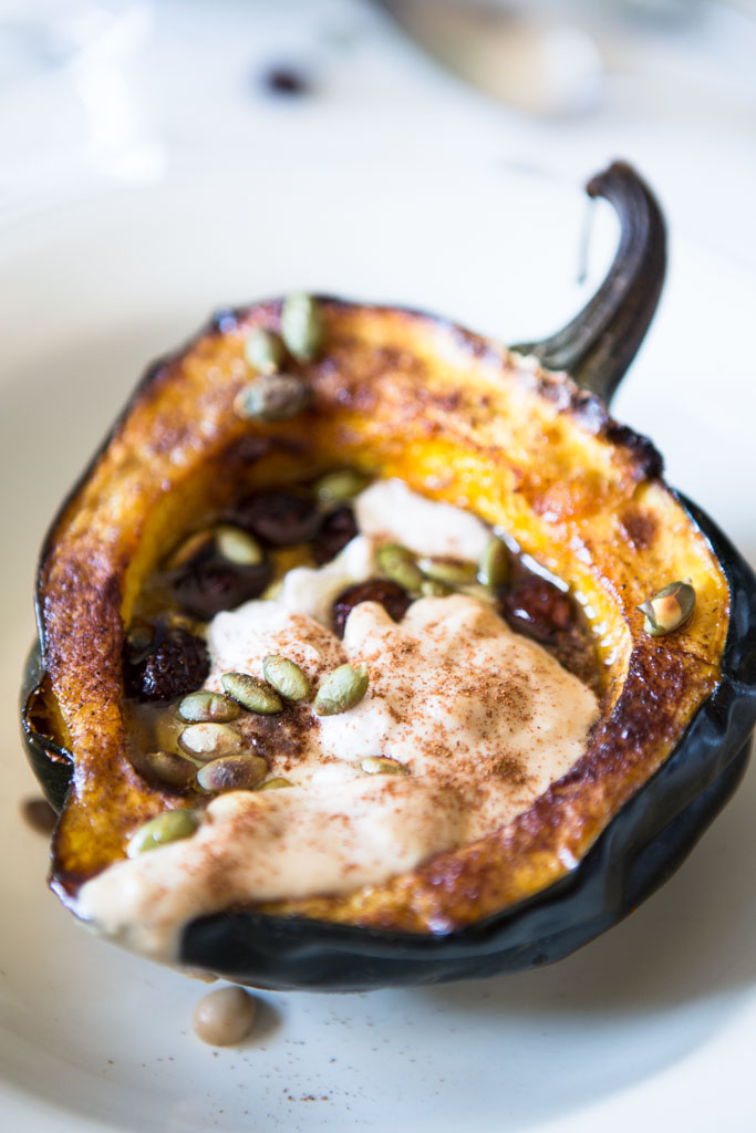 Protein-Packed Acorn Squash Boats - a beautiful, elegant and healthy holiday side dish.