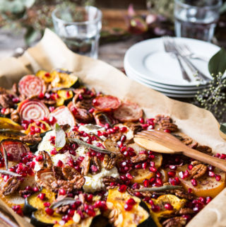 This Favorite Holiday Nosh Platter is a beautiful welcome for holiday dinner guests.