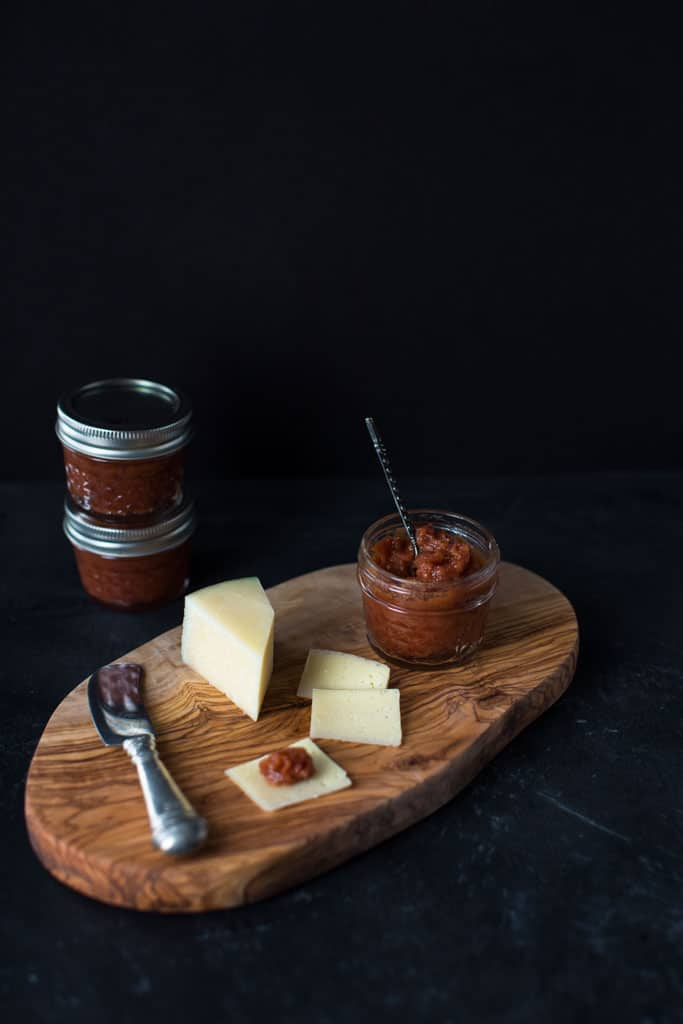 Quince jam is a delicious addition to a cheese board and is often eaten with Manchego cheese.