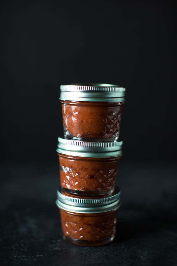 Quince jam is delicious as an accompaniment to cheese. Little jars of quince jam make for a perfect holiday gift.
